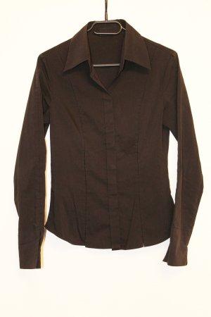 Style Bluzka z długim rękawem czarny Tkanina z mieszanych włókien