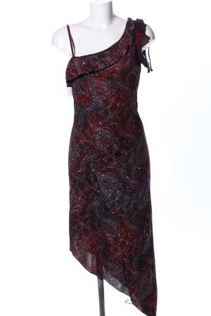Style Trägerkleid rot-schwarz abstraktes Muster Elegant
