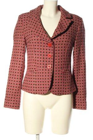 Style Blazer Tweed rosa-crema estampado repetido sobre toda la superficie