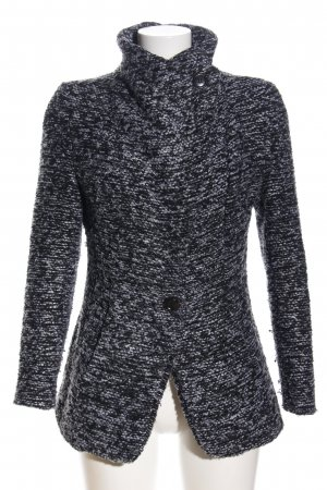 Style Übergangsjacke schwarz meliert Casual-Look