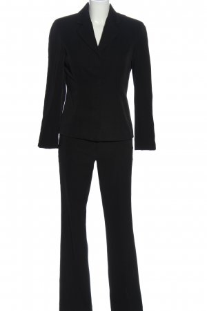 style woman Trouser Suit black casual look