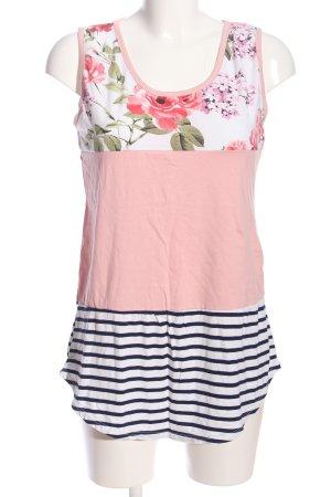 STYLEBOOM ärmellose Bluse Blumenmuster Casual-Look