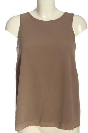 STYLEBOOM ärmellose Bluse braun Casual-Look