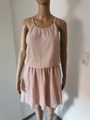 Styleboom Damen Sommerkleid mit Spitze rosefarben Größe L NEU