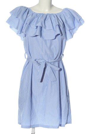 STYLEBOOM Minikleid blau-weiß Streifenmuster Casual-Look