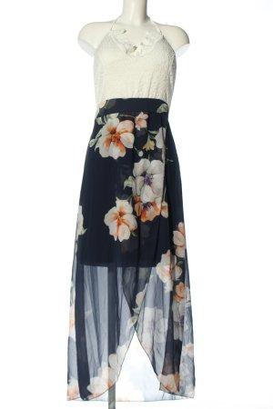 STYLEBOOM Sukienka z dekoltem typu halter Wzór w kwiaty Elegancki