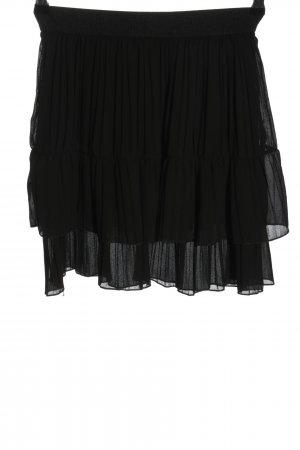 STYLEBOOM Jupe plissée noir style décontracté