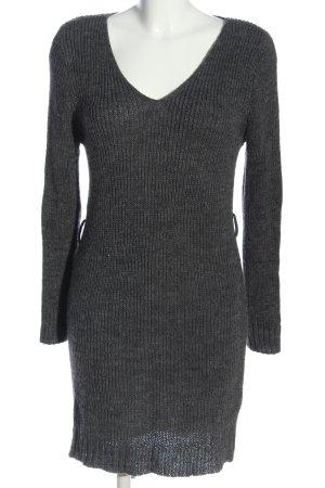 STYLEBOOM Pulloverkleid schwarz meliert Casual-Look