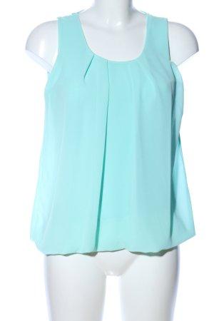 STYLEBOOM V-Ausschnitt-Shirt türkis Casual-Look