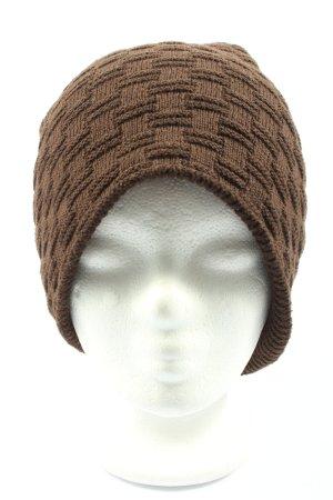 styleBREAKER Chapeau en tricot brun style décontracté