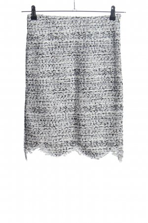 Stylenanda Tweed Skirt white-black abstract pattern elegant