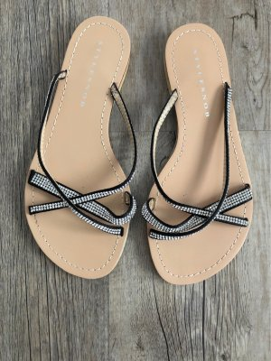 Stylesnob Outdoor Sandals black-beige
