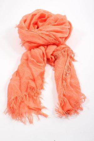 Stylesnob Gebreide sjaal licht Oranje casual uitstraling