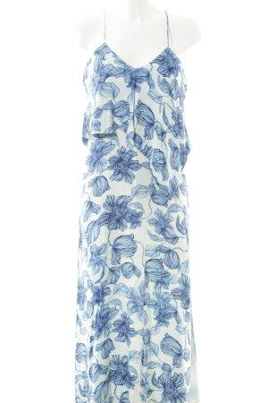Stylestalker Maxikleid weiß-blau florales Muster Beach-Look