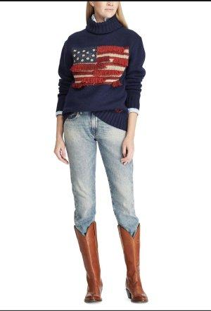 Stylisch 100% wolle Rollkragen Pullover Polo Ralph Lauren gr XS/S