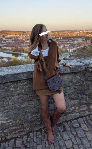 Stradivarius Boyfriend blazer cognac