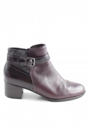 Stylische Ankle Boots in Bordeaux