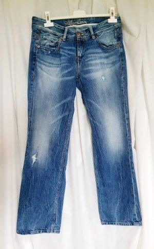 Tommy Hilfiger Denim Jeansy z prostymi nogawkami błękitny-stalowy niebieski