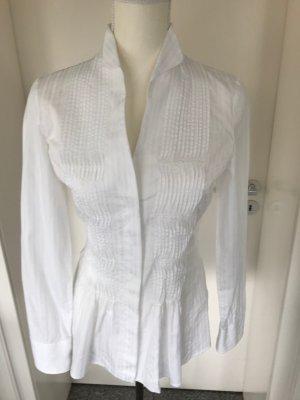 van Laack Stand-Up Collar Blouse white cotton