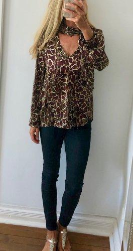 stylische Bluse von ZARA mit Hals-Band * Leo-Print * Gr. S * NEU!