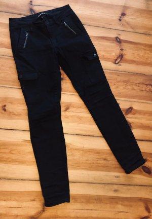 ASHLEY MASON Pantalon cargo noir