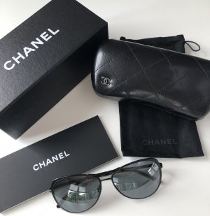 Chanel Aviator Glasses black metal