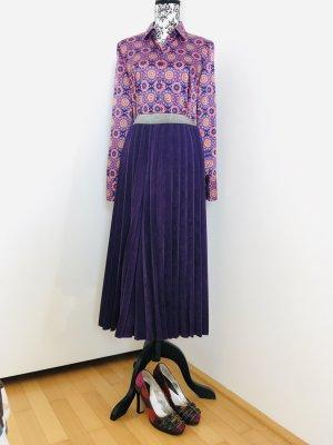Falda pantalón de pernera ancha violeta oscuro