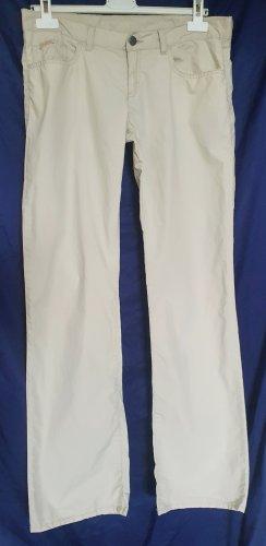 Stylische Designer-Hüfthose in sommerlich leichter Baumwollqualität in beige mit edler Schmucksteinverzierung von Calvin Klein Jeans in Größe 32/34