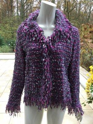 Escada Blazer in lana viola scuro-viola