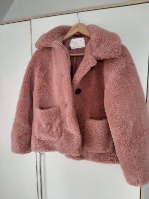 Zara Jack van imitatiebont stoffig roze-rosé
