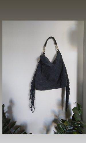 Accessorize Sac à franges gris ardoise