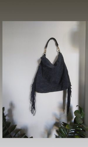 Accessorize Fringed Bag slate-gray