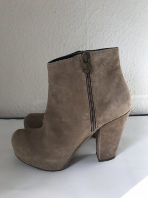 Fornarina Short Boots beige-camel leather