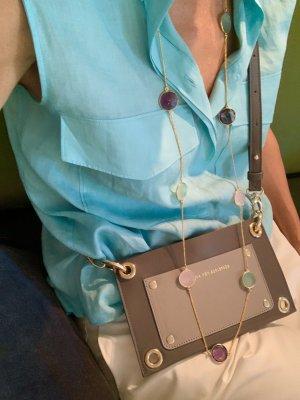 Carcasa para teléfono móvil gris-color plata Cuero
