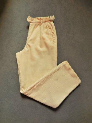 Danis Sportswear Corduroy Trousers pale yellow cotton