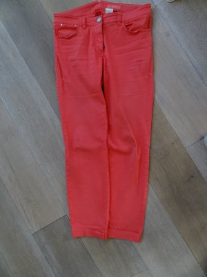 Windsor Five-Pocket Trousers salmon-bright red cotton