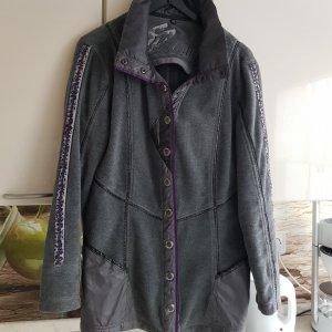 Sportalm Fleece Jackets dark grey-dark violet