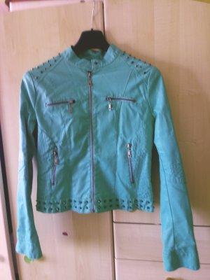 Faux Leather Jacket mint
