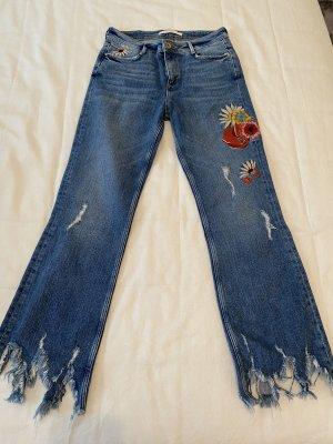 Zara Jeansy z wysokim stanem Wielokolorowy