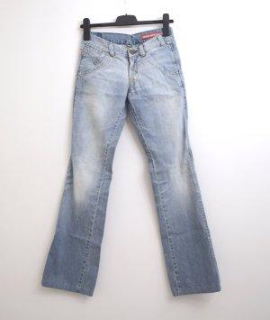Miss Sixty Jeansy z prostymi nogawkami błękitny