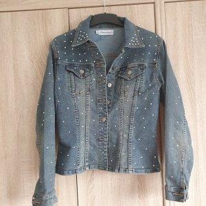 Stylische Jeansjacke mit Strass Steinen - Gr. 36