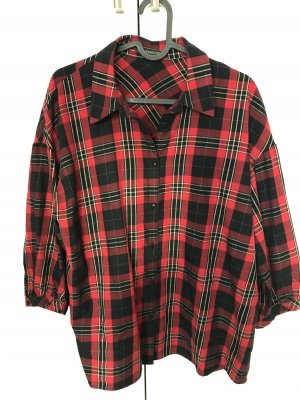 Drykorn Checked Blouse black-red