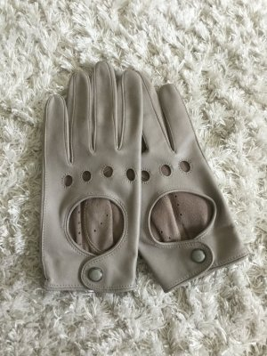 Roeckl Leather Gloves silver-colored-light grey leather