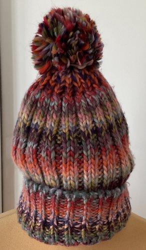 / Chapeau en tricot multicolore acrylique
