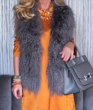Natures Collection Fur vest multicolored mohair