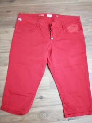 Q/S Pantalon 3/4 rouge
