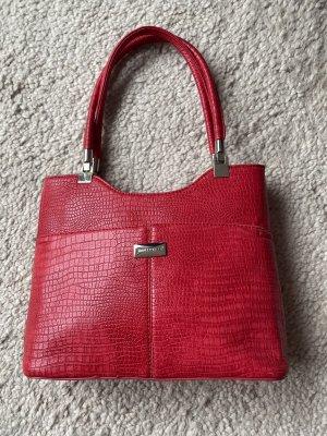 Stylische rote Handtasche von David Jones - NEU