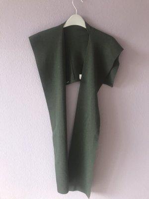 Écharpe en laine vert foncé