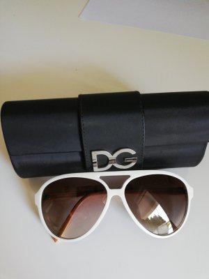 Dolce & Gabbana Gafas de sol redondas blanco-marrón claro