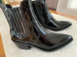 Jeffrey Campbell Santiag noir cuir